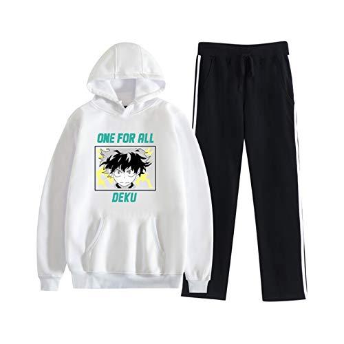 XQshop My Hero Academia Hoodie und Jogginghose Sets Unisex 2-teiliges Pullover Sweatshirt Joggeranzug Lässiger Trainingsanzug Boku No Hero Academia