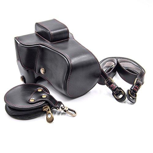 vhbw Poliuretano cámara-Bolsa Negro para cámara Fuji/Fujifilm X-E3 with Long Objective