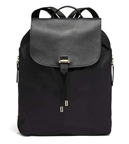 Lipault - Plume Avenue Backpack - 15' Laptop Over Shoulder Purse Bag for Women - Jet Black/Light Gold