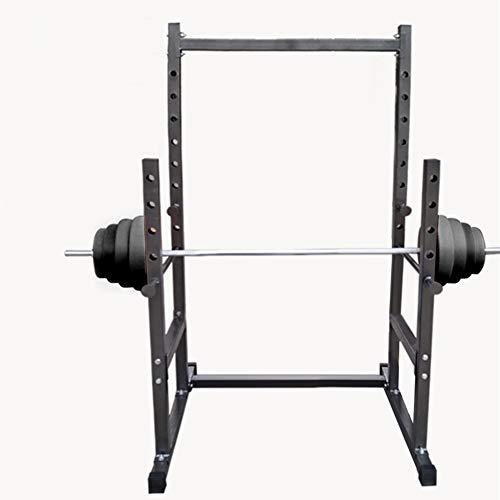 ZYTT Maquina Gym Multifuncion Multifuncional Gym, Barra Larga Jaula De Barra Y Pesas Musculacion Jaula Soporte Barra Pesas Musculacion Almohadilla Aparato para Hacer Sentadillas