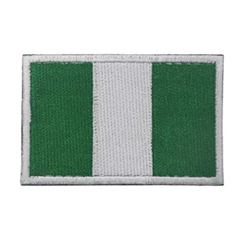 ShowPlus Aufnäher mit Nigeria-Flagge, Militär, bestickt, taktischer Aufnäher, Moral, Schulterapplikation