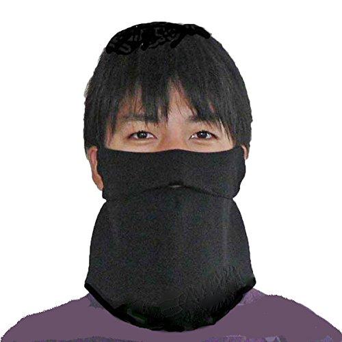 息苦しくないUVカットフェイスカバーA型(男性用)(ブラック)