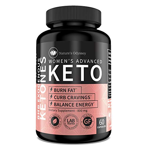 Nature's Odyssey Keto Diet Pills for Women - Keto Supplement to Burn Fat for Energy and Curb Appetite - Keto Advanced Weight Loss 800 mg - Ultra Fast Keto Boost Pills - Keto BHB Pills - 60 Capsules