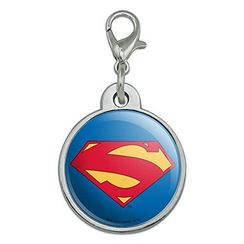 GRAPHICS & MORE Superman New 52 Shield Logo Chrome Plated Metal Pet Dog Cat ID Tag