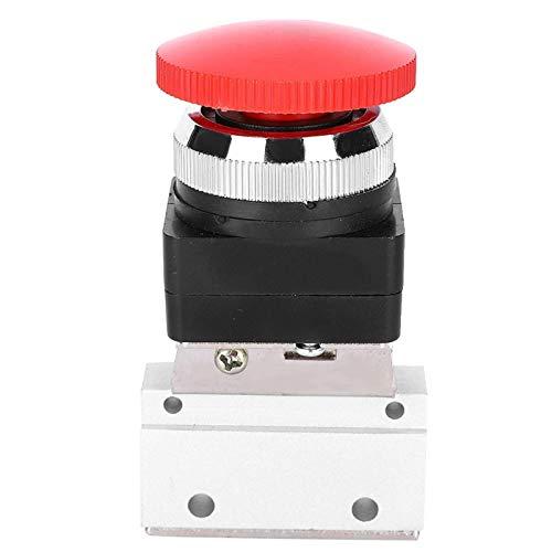 Operalie Válvula mecánica neumática, 2 Posiciones 3 vías G1/8 Interruptor de botón pulsador de válvula mecánica neumática MOV-03 Aplicable para Equipos mecánicos