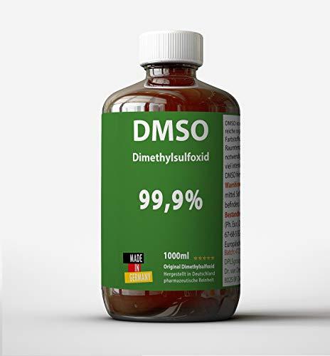 DMSO 1000ml 99,9 % Reinheit ph eur: Dimethylsulfoxid unverdünnt - DMSO Made in Germany - ohne Zusatzstoffe - Apothekerflasche - Braunglas