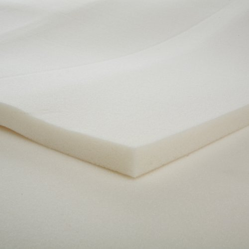 1-Inch Slab Memory Foam Mattress Topper, Queen