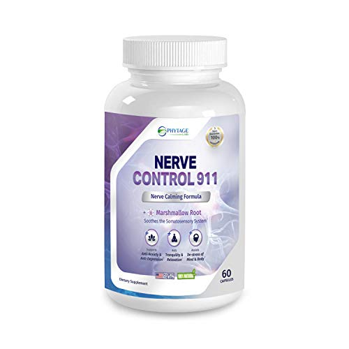 Nerve Control 911 - Phytage Labs - All-Natural Plant-Based Nerve Health & Pain Management Support Supplement (Official – 60 Capsules)