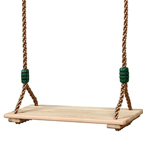 Asiento de columpio rústico para porche de árbol, de madera, longitud de cuerda ajustable para niños y adultos jugando al aire libre, asiento suspendido, carga máxima 150 kg