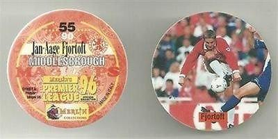 MERLIN Magicap 1996 football pog disc No 54 Middlesbrough JAMIE POLLOCK