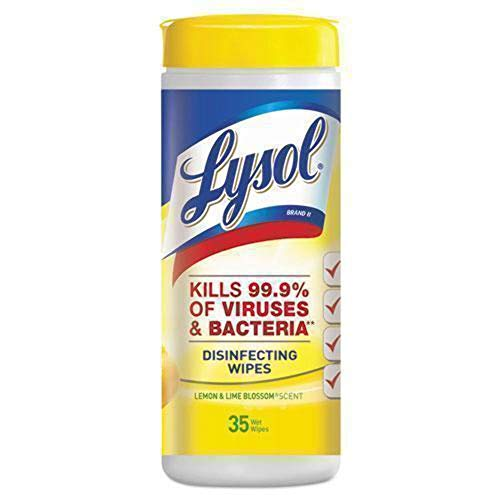 LYSOL Brand Products - LYSOL Brand - Citrus Scented Disinfecting Wipes w/Micro-Lock Fibers, 7 x 8, 35/Canister - Sold As 1 Each - Bleach- and alcohol-free disinfectant wipes clean and deodorize highly sensitive workspaces. - Safe on vinyl and nonporous surfaces, wipes provide maximum coverage on hospital beds, carts, counters and exam tables. - Kills 99.9% of germs on hard, nonporous surfaces.
