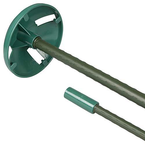 Windhager Pflanzstab, Netzstütze für Beete, Netzhalter-Aufsatz zum Schutz von Obststräuchern, Ø 12 cm, 5 Stück, 07465, grün