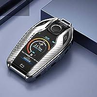 車のキープロテクター-車のキーケースカバーキーケース保護シェル、BMW7シリーズ7406シリーズGT5シリーズ530iX3に適合 (Color : Silver)