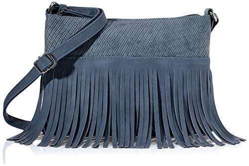 TOM TAILOR Denim Umhängetasche Damen, Blau, Sierra, 26x3x19 cm, Schultertasche, Handtasche