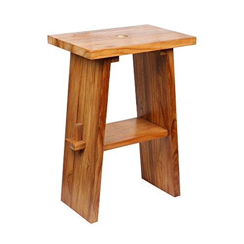 wohnfreuden Teak Holz Zen Waschtisch hoch lasiert 60x40x85 cm Natur Bad Gäste WC
