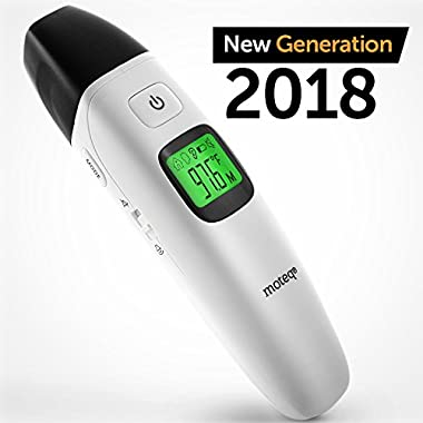 Digital Thermometer Infrared - [Upgrade 2018] 5-in-1 Ear - Forehead/Object/Liquids/Room- Fever Alarm - Instant Reading- Accurate - Baby/Gentile - Hygienic - Medically Proven CE/FDA