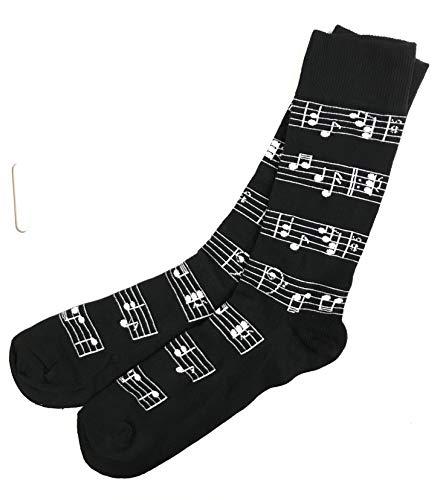 The Tie Studio Música Manuscrito Pentagrama Calcetines Tobillo Adulto Unisex Talla 6-11