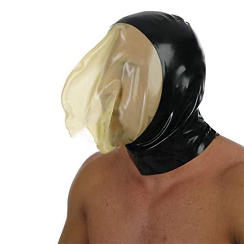 ZYAM SM Latex transparente Bondage m-ḁṤ-kè -Rollenspiel Gummim-ḁṤ-kè für Cosplay/Folter/Fetisch/Sklave-S