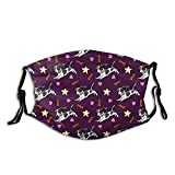 Cute Dachshund Coffee Latte Dachsie Doxie Dog Breed Cute Pattern for Weener Dog Lover Face Mask Reusable Washable Dust