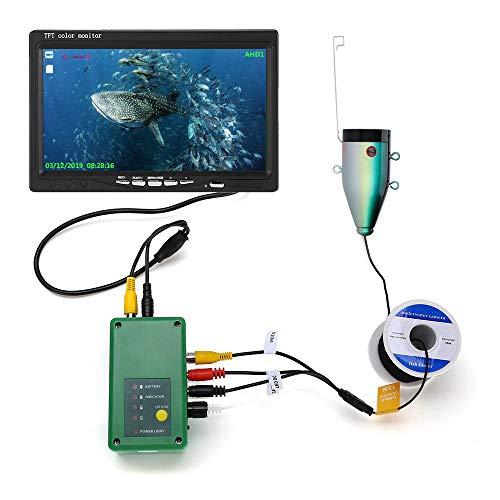XINTONGSPP Finder di Pesce subacqueo, HD 7 Pollici DVR Fish Finder Schermo per Telecamera da Pesca Sott'Acqua 1080p Camera per la Pesca,30m