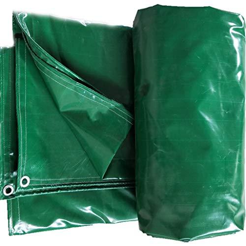 JQQJ Lona de Protección Encerado del Cuchillo Que raspa de Coches Camión de Tela Impermeable de protección Solar ignífugo Lona toldo (Color : Green, Size : 19.8x39.6ft/6x12m)