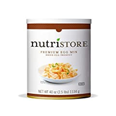 AMAZING TASTE that everyone can enjoy! The Nutristore Premium Powdered Egg Mix has a delicious taste due to the quality of product used and the freeze drying process that locks in important nutrients without compromising quality or taste. 103 TOTAL S...