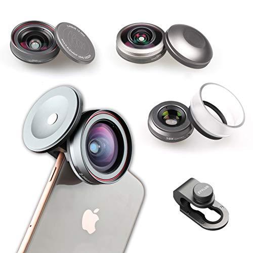 Ztylus Z-Prime Mark III 3+1 Lens Kit for Apple iPhone SE 2020/7 / 8/7 Plus / 8 Plus/X/XS/XR/XS MAX (Fisheye + Wide Angle + Macro Lens + Lens Clip Adapter) (Mark III)