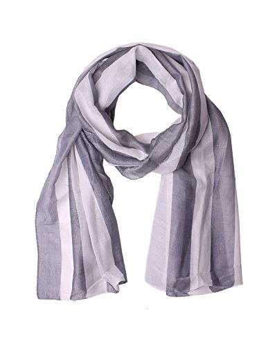 DIESEL BLACK GOLD - Silk and Cotton Neckerchief - Scarf 70x21 in / 178x54 cm PISK - gray, One size