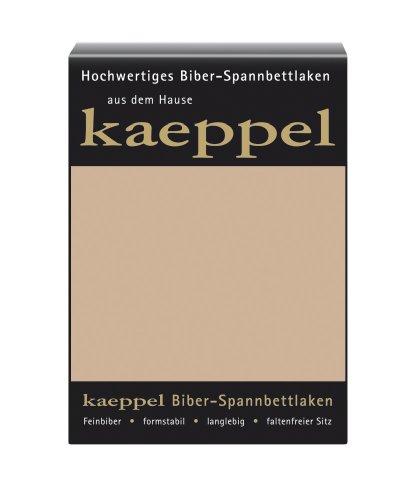 Kaeppel L-016745-74L1-UAKB Biber Spannbettlaken 100 x 200 cm, Farbe: Sand