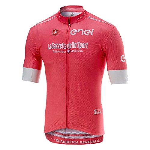 Castelli Maillot De Ciclismo De Manga Corta 2018 Giro Squadra Rosado (S, Rosado)
