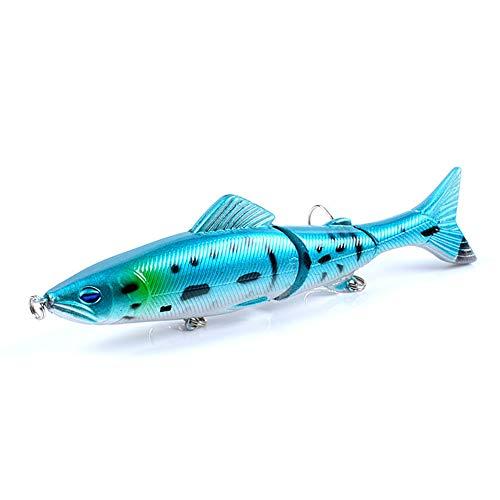 LANGTAO 5 PCS Lure DE Pesca, 130 MM 21G Ojos 3D Multi-Section Duro Bait Artificial Crankbait Hundido Wobblers Pesca Perch Carp Seures,2