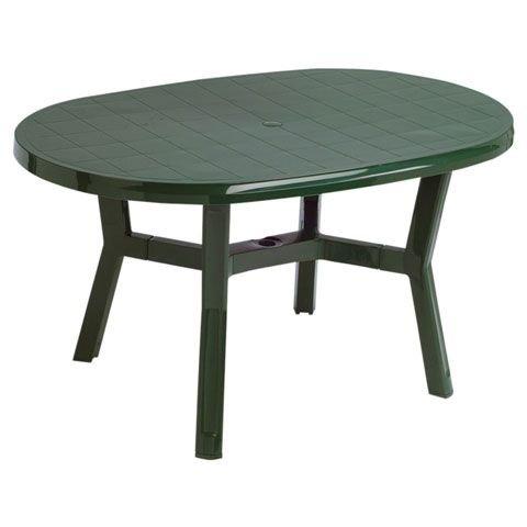 Garden Life 4060V Mesa ovala, Verde, 140x90x13 cm