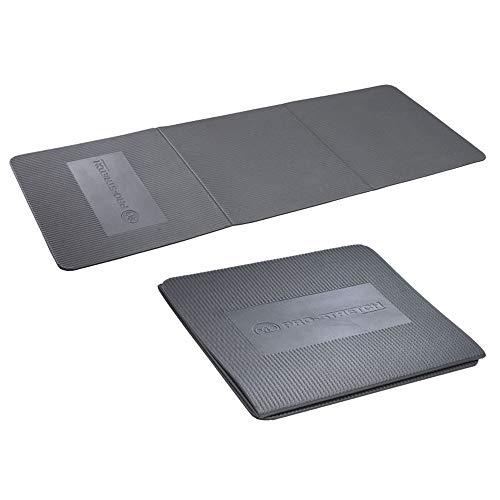 Fitness-Mad 3-vägs vikbar aerobicmmatta, mörkgrå