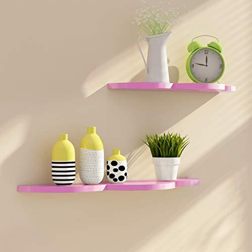 TLMY Wandrek, creatieve wolk roze kinderwandstudeerkamer hangende decoratie multi-size opslagrek