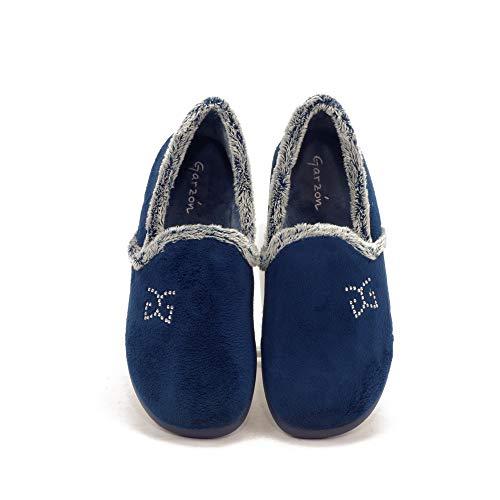 GARZON - Zapatilla CASA 3843 para: Mujer Color: Azul Marino Talla: 38