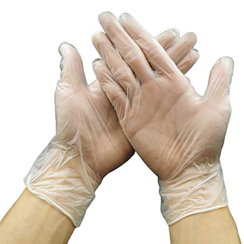 Multipurpose Disposable Gloves, Food Grade Latex Free Glove, Hand Protection for Adults[100 Pack] (Large)