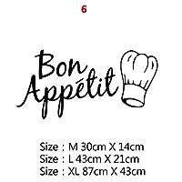 22スタイルの家の装飾アクセサリー壁画壁紙のポスターのための大規模なキッチンウォールステッカーホームデコレーションステッカービニールステッカー (Color : Style20, Size : Size XL)