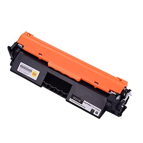 Fesjoy Cartucho de tóner, Reemplazo de Cartucho de tóner Compatible con Black para tóner HP CF217A 17A con Chip Compatible con HP Laserjet Pro M102a M102w MFP M130a M130nw M130fn M130fw Impresora