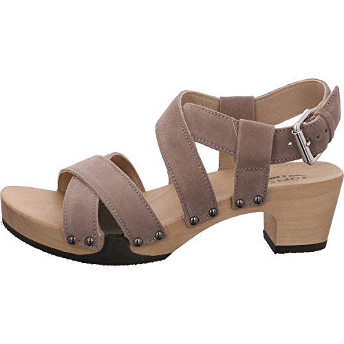 Softclox S3514 Kairi Kaschmir - Damen Schuhe Sandaletten - 09-Schlamm, Größe:38 EU