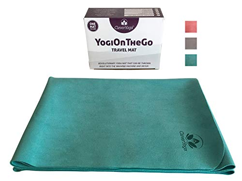 Travel Yoga Mat Foldable Absorbent And Machine Washable And Dry Non Slip Yoga Mats For Bikram And Hot Yoga Yogionthego Thin Hot Yoga Mat Buy Online In Barbados