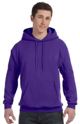 Hanes Mens ComfortBlend EcoSmart Pullover Hoodie Sweatshirt Purple