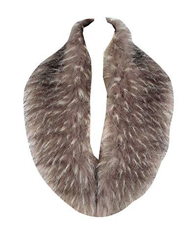 Liangzhu Damen Luxus Warm Fellkragen Lätzchen Kunstpelz Pelz Schal Bequem Fell Warm Schal Unisex Graue Blume