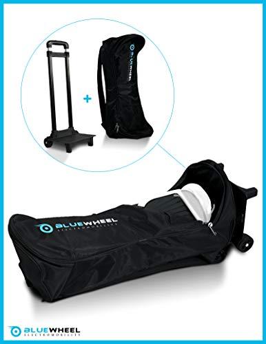 Bluewheel CASE6.5 / CASE10 Bolsa de Transporte Patinete eléctrico - Trolley con 2 Ruedas, Respaldo Acolchado, asa retráctil y Malla - Repelente al Agua para 6,5 o 10 Pulgadas (Case 10)