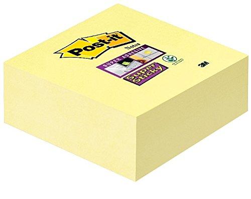 Post-It 2028-SSCY-EU - Notas adhesivas en cubo, 76 x76 mm, multicolor,(verde / amarillo / azul / rosa brillantes)