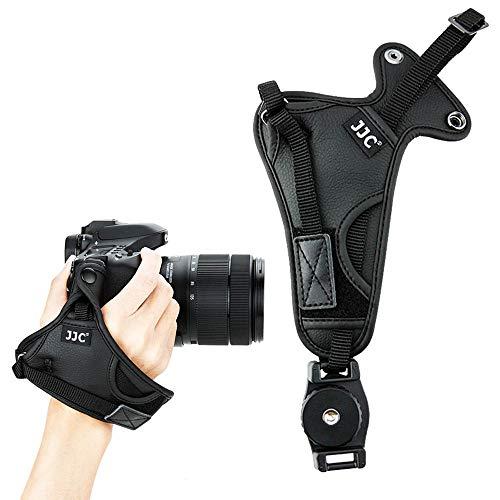 Correa de mano de piel de microfibra para Nikon D7500 D7200 D7100 D800 D750 Canon 90D 80D 77D 750D Olympus Sony Fujifilm Panasonic cámara DSLR videocámara binocular SLR correa de transporte