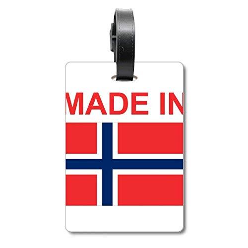 Etiqueta de identificación para Maleta con Texto en inglés «Made in Norway Country Love Cruise»