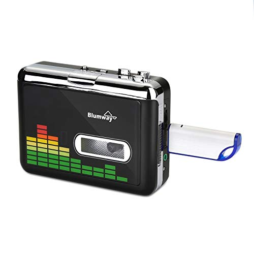 Cassette to MP3 Converter, BlumWay Portable Cassette Recorder Player, and The Most Suitable FAT32 Mode 32G USB Drive for Our Converter