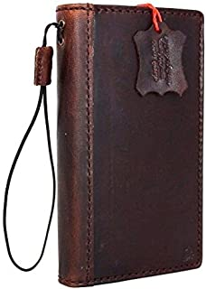 Genuine Vintage Leather Case for Samsung Galaxy S6 Active Book Pro Wallet cover Handmade Retro brown cards slots slim davi...