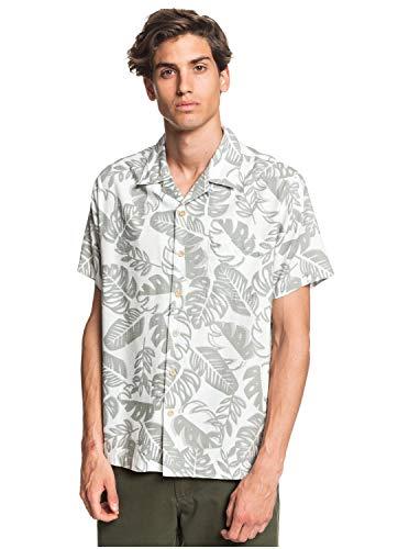 Quiksilver Herren Jungle Life Woven Button Down Hemd, Seegras Dschungel Leben, XX-Large