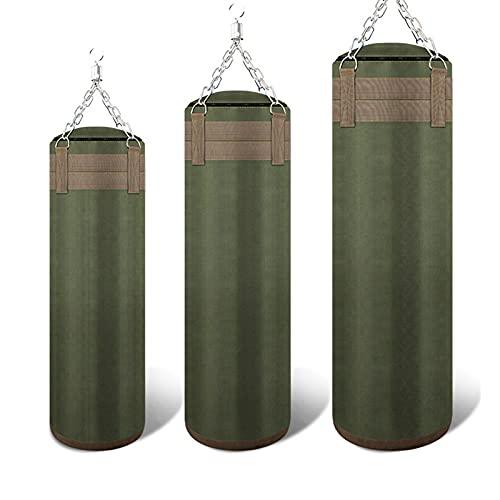 ZLQBHJ 緑のキャンバスキックボクシングパンチングバッグのサンドバッグのためのサンドバッグのためのサンドバッグのためのサンドバッグは、ムエタイ